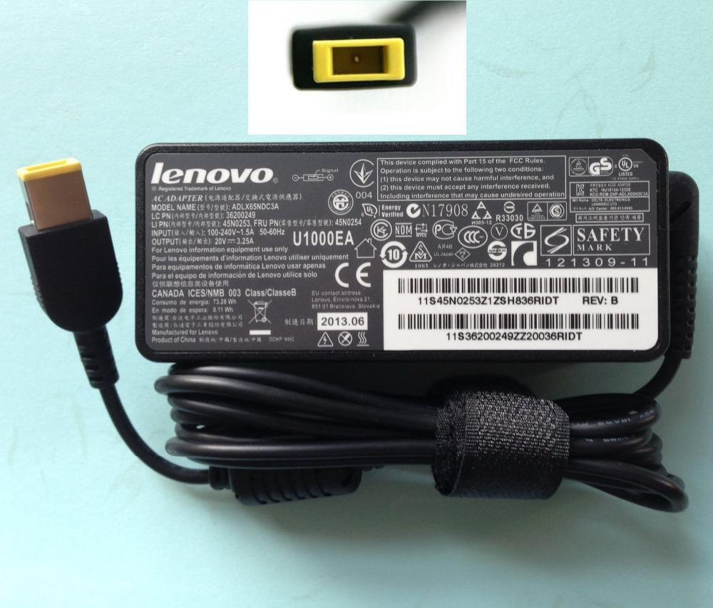 Lenovo Square Pin Laptop Charger 20V 3.25A 65W