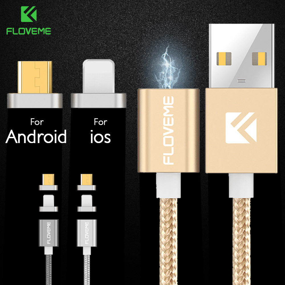 Magnetic Charger Cable For Iphone /Android 2 IN 1 Magnet Magnetic Wire