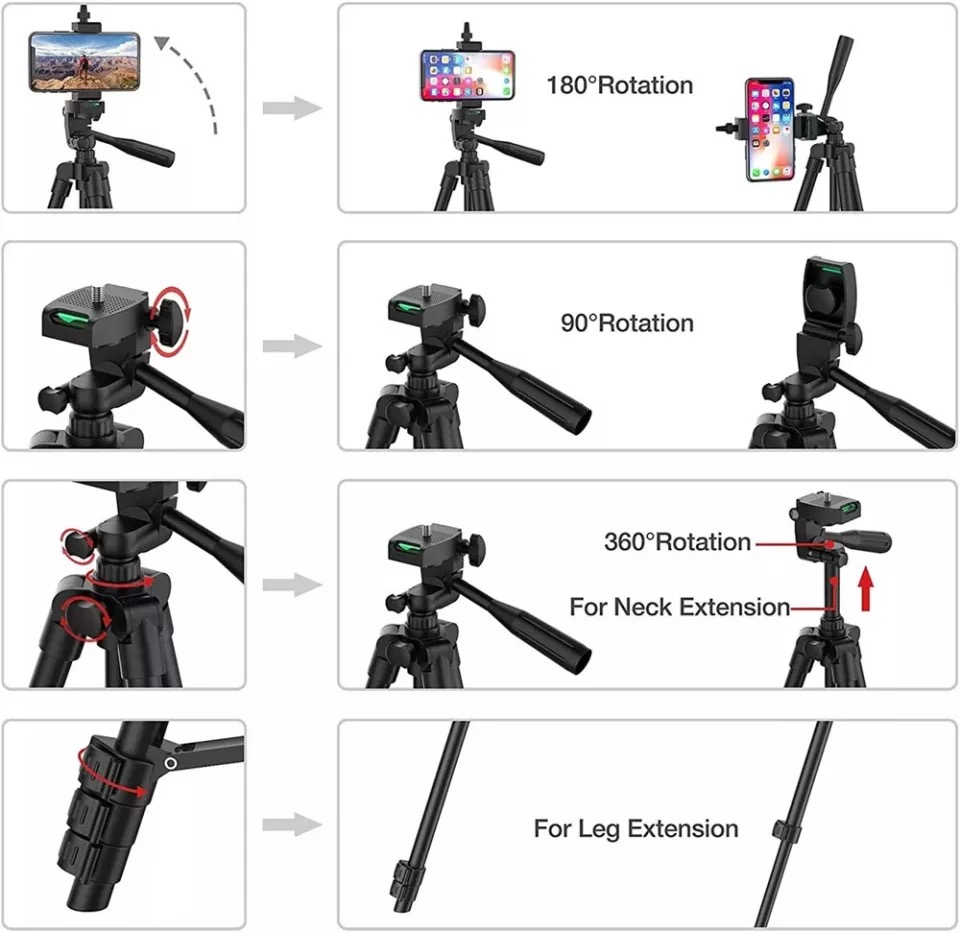 Tripod 3120 Professional Portable Travel Lightweight Camera Tripod 40 inch Portable Phone Stand Holder