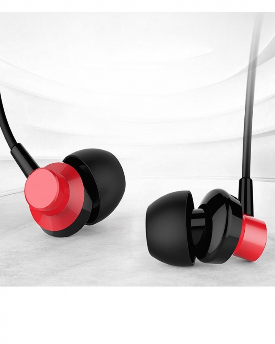 Remax Newest Stereo Wired Music Earphone with Microphone RM-512 - Red