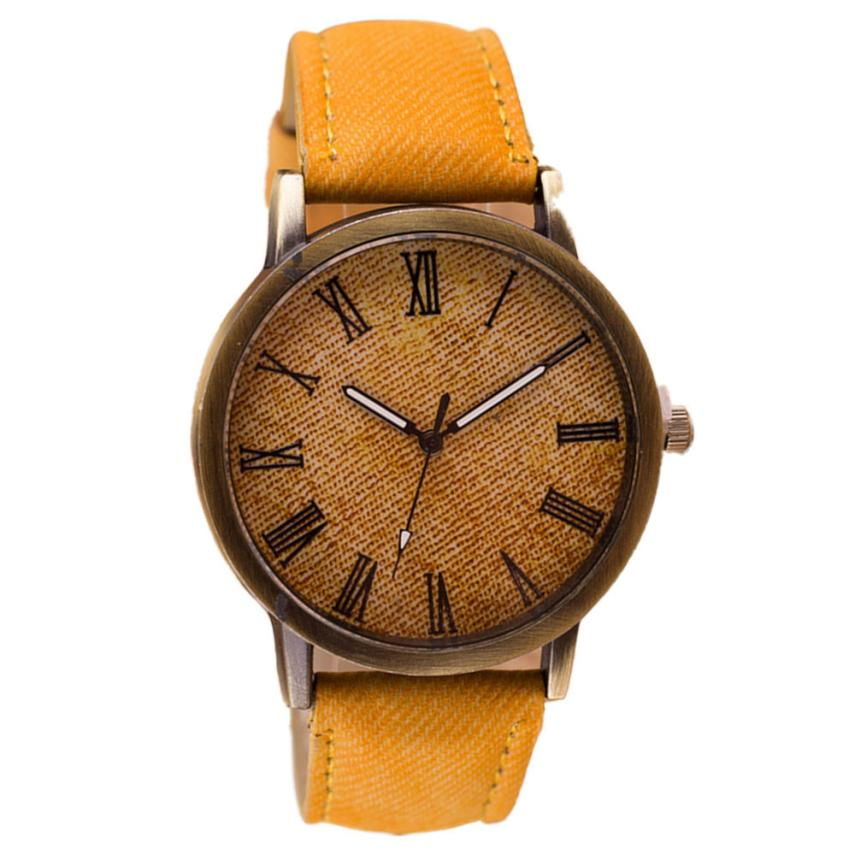 Retro Vogue Men Wrist Watch Cowboy Leather Band Analog Quartz Watch