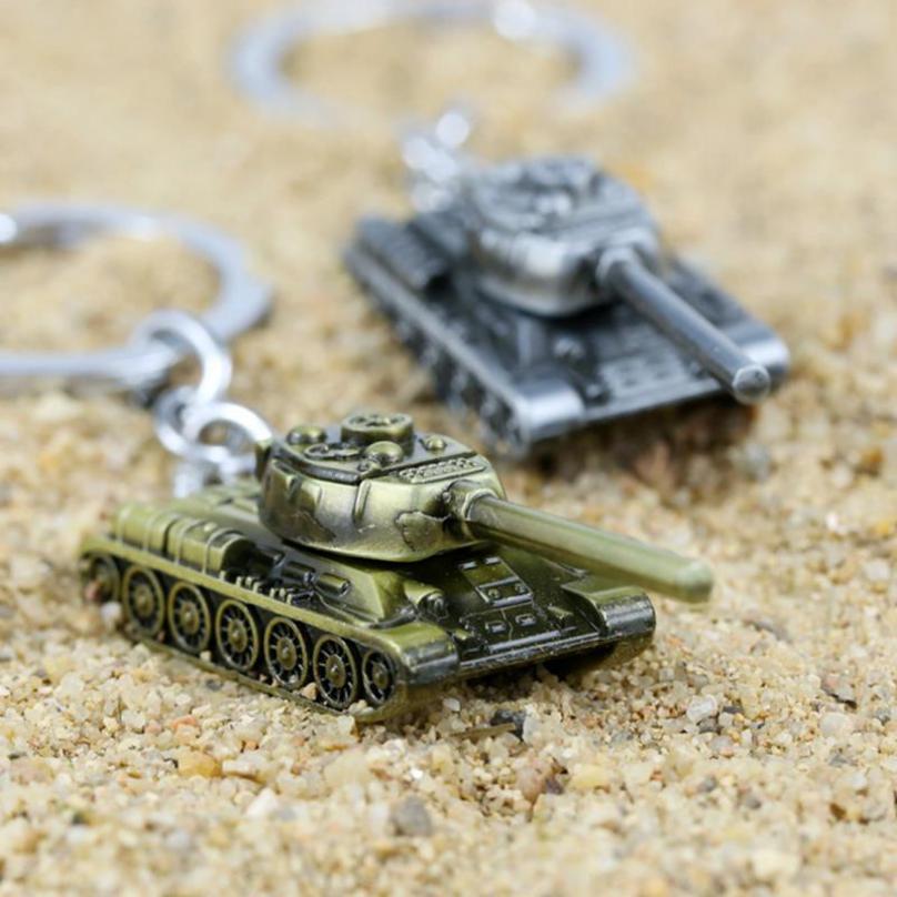 Bronze Color 3D Model World Ta-nk Key chain Metal