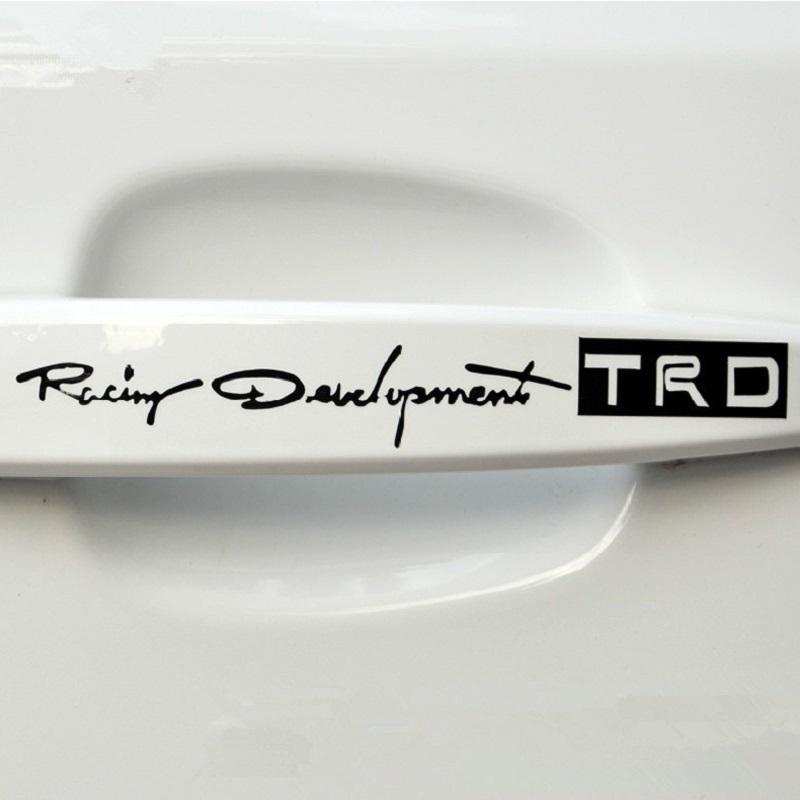 4pcs/set Car-styling TRD Logo Door Handle Stickers