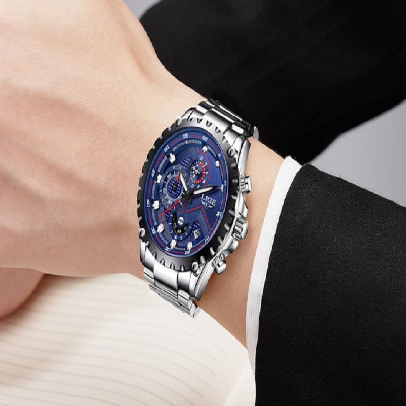 LIGE Watch Men Fashion Sport Quartz Clock Men