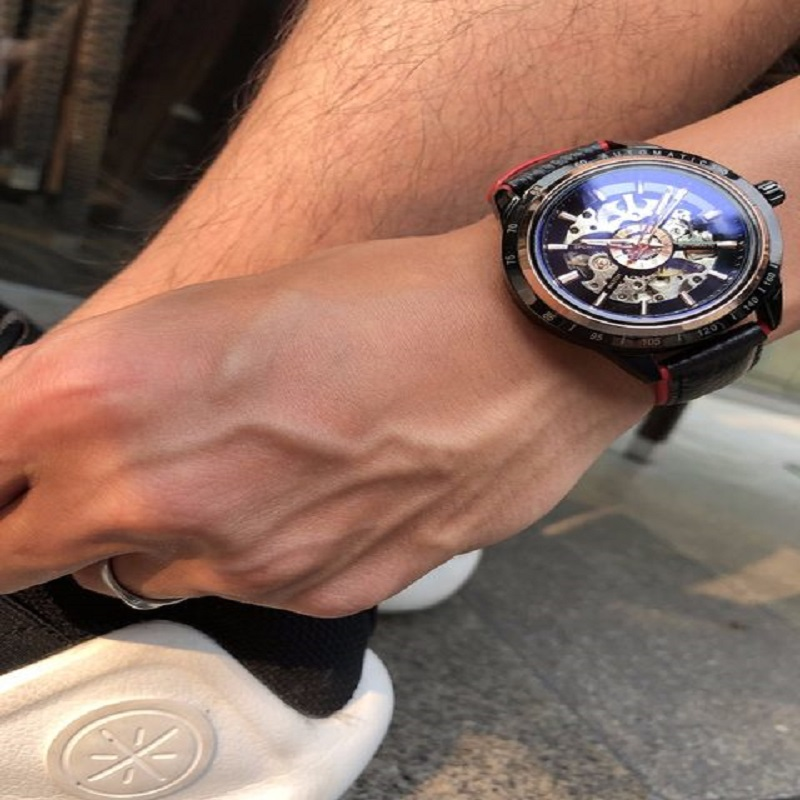 Fors-ining  Water-proof Skele-ton Men Automatic Watch