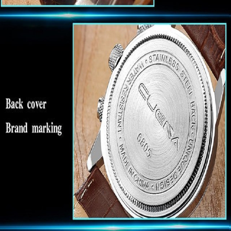 CUENA Brand Watches Men Fashion Analog Man Clock