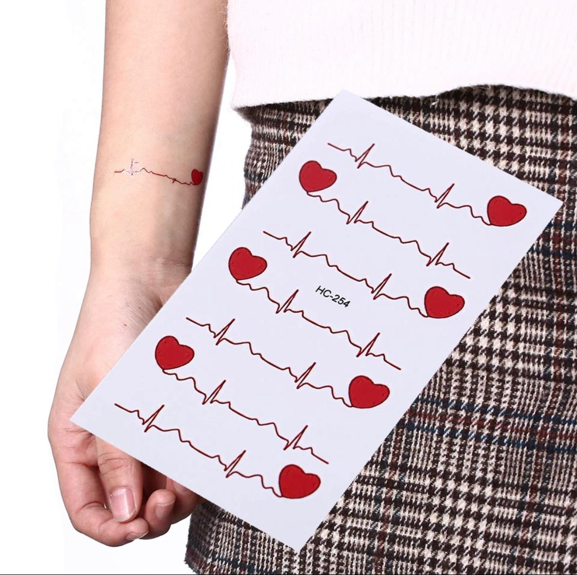ECG Temporary Tattoo Men And Women
