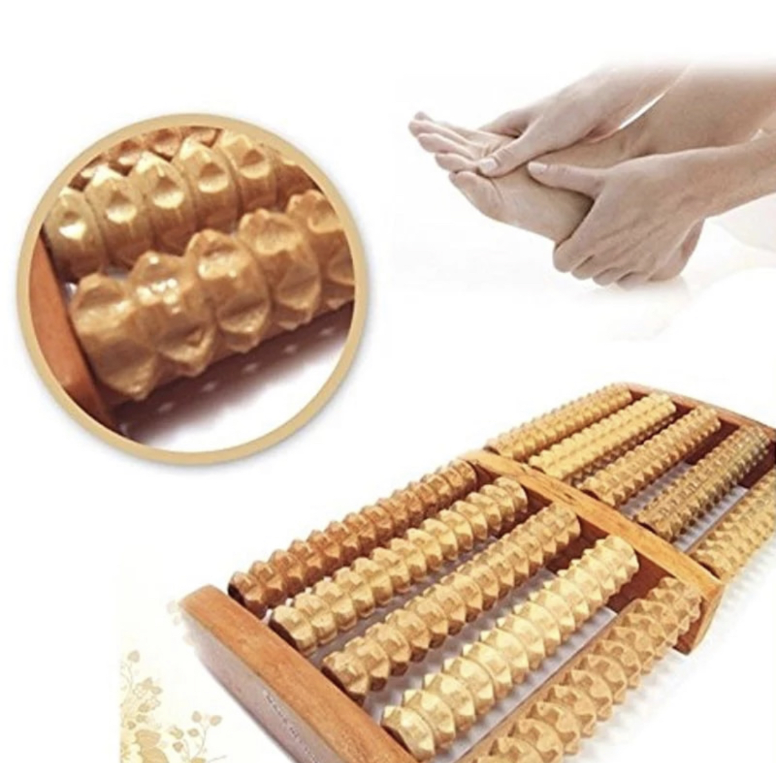 Traditional Wooden Roller Foot Massager