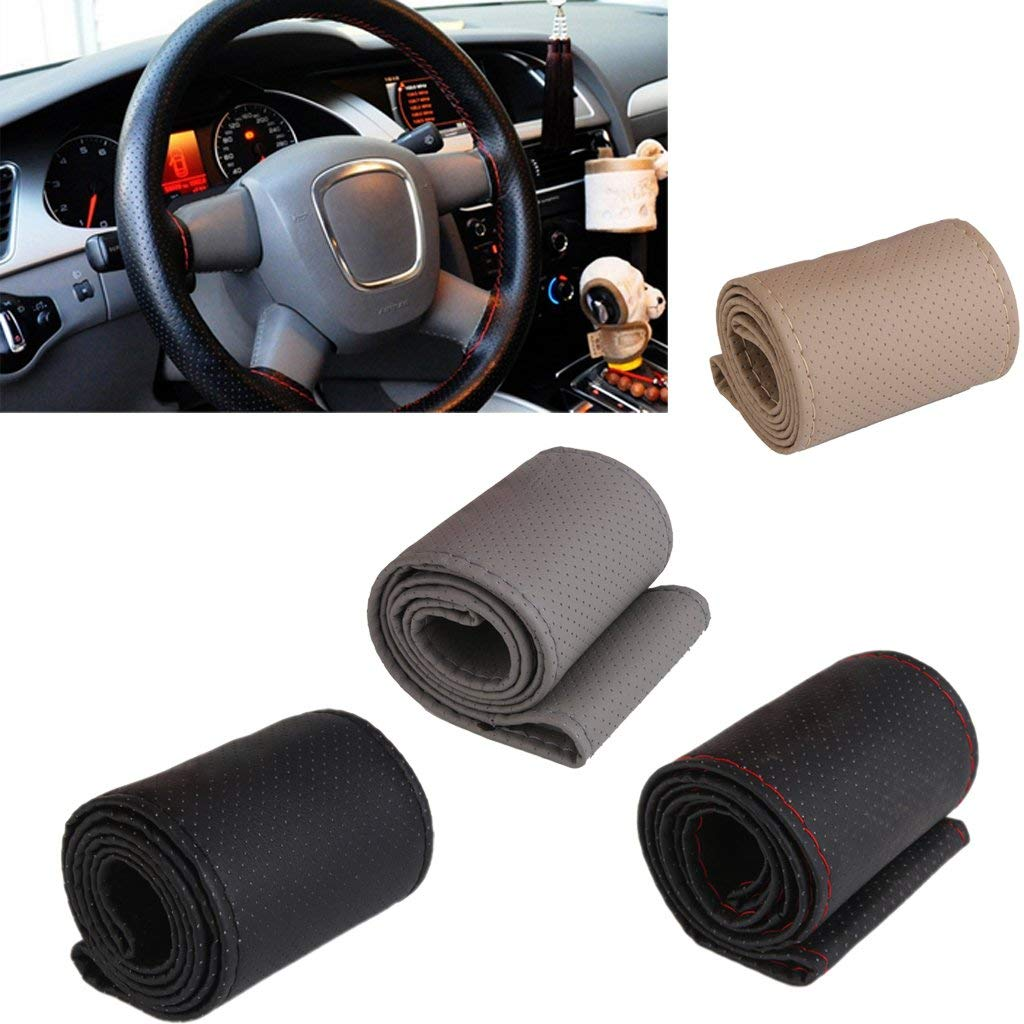 Car Steering Wheel Cover With Needles and Thread Auto