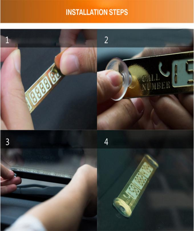Telephone Number Card Temporary Car Parking Card