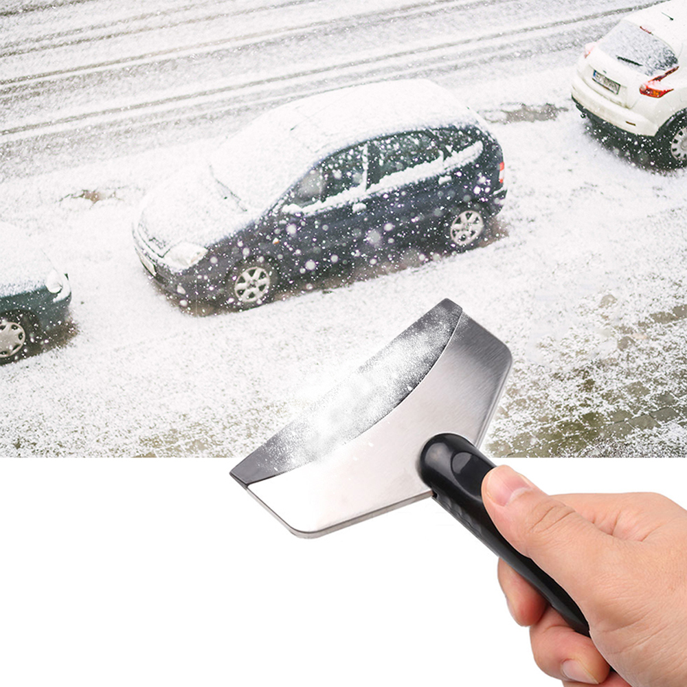 Portable Winter Car Windshield Snow Scraper Mini Ice Shovel Stainless