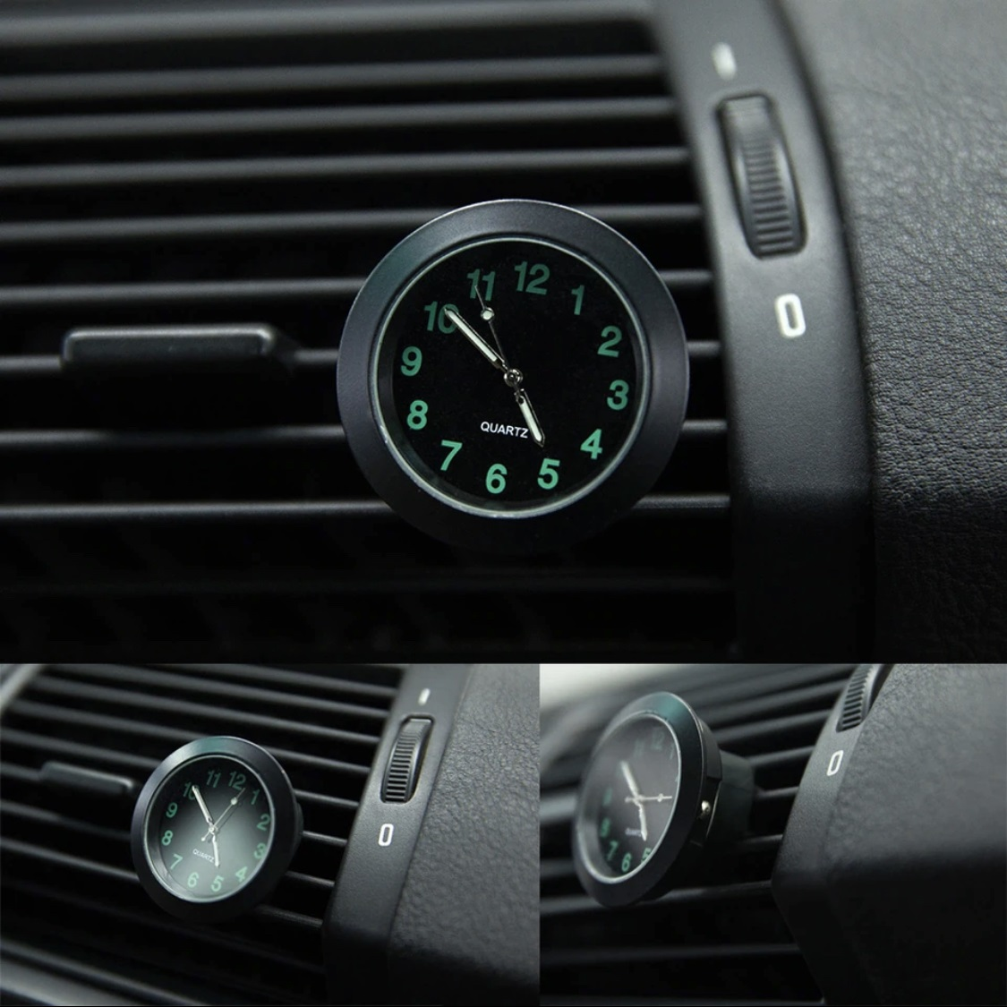 Luminous Auto Gauge Clock  With Clip Car Styling