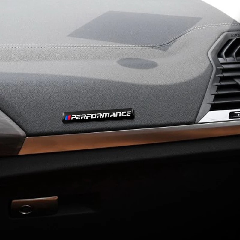 NEW Car Sticker Performance Motorsport Metal Logo Aluminum Emblem Grill Badge for BMW Black