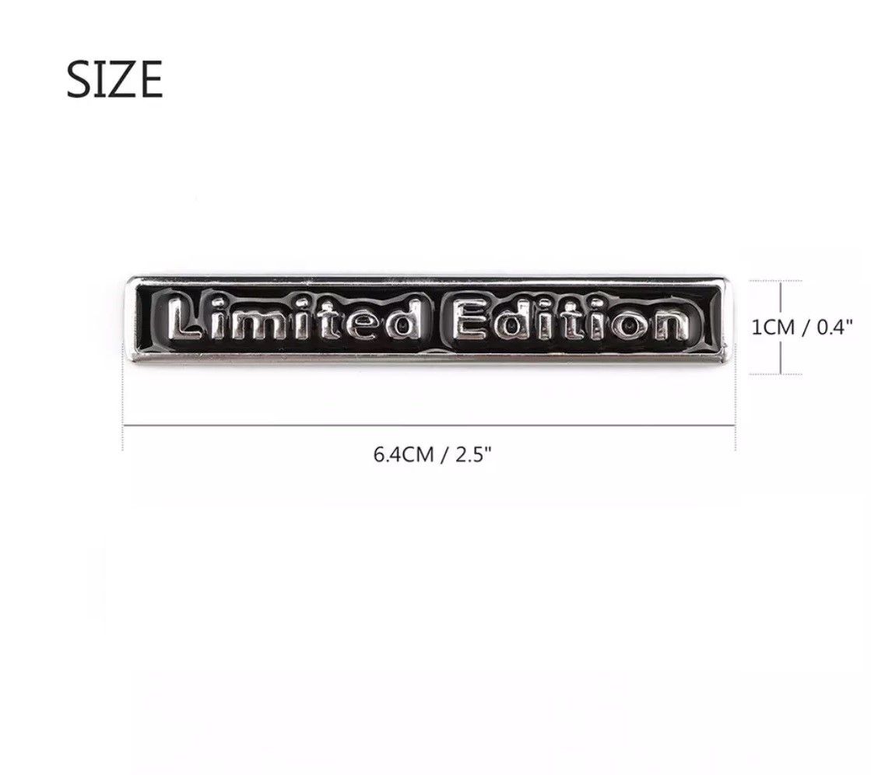 3D Metal Fashion Limited Edition Auto Car Chrome Sticker