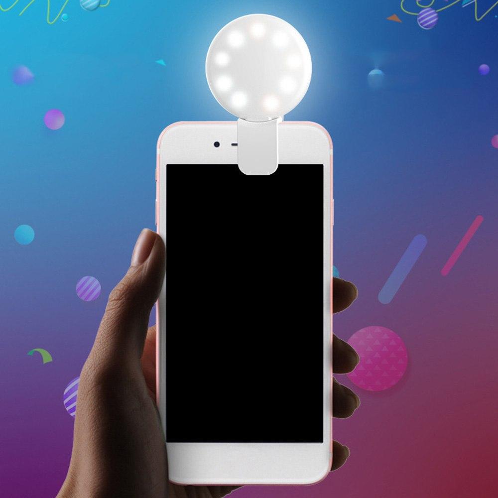 Mini Led Flash Fill Lights Selfie Luminous Lamp for iphone x 7 8 Nokia 5 Xiaomi Mi 8 Samsung