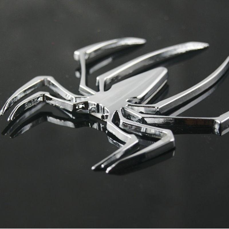 3D Spider Chrome Sticker Badge Logo Emblem