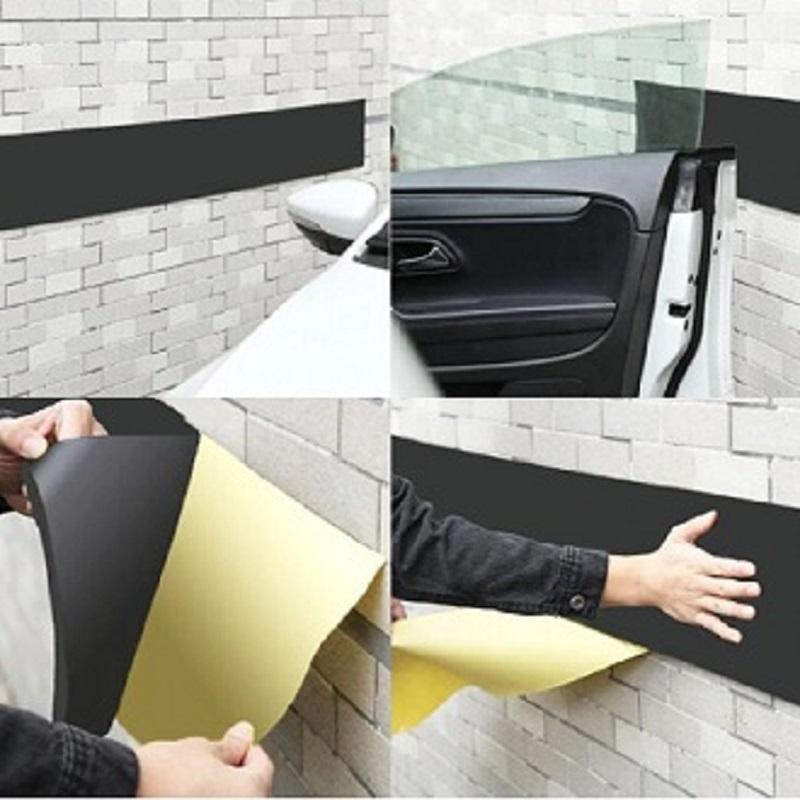 Car Door Guard Anti Scratch Self Adhesive Parking Protector Garage Wall Corner Foam Sticker 200*20 cm