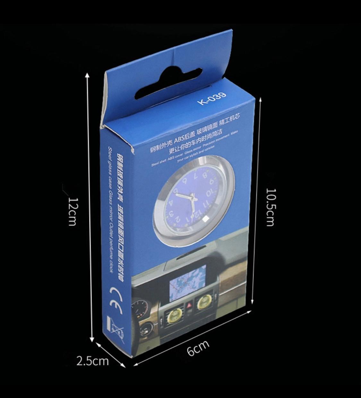 Watch Analog Quartz Car Clock Pocket Decor Blue