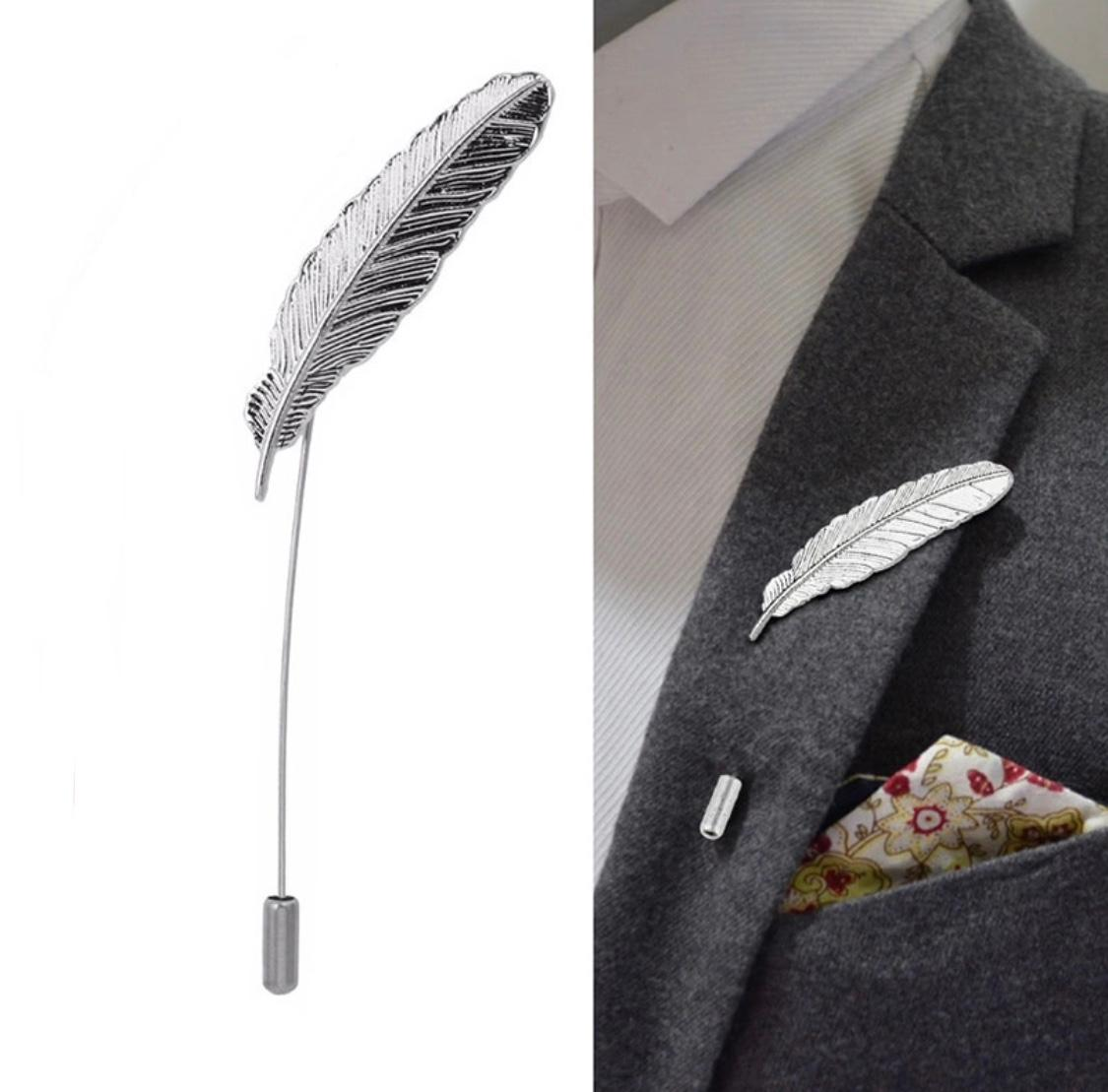 Leaves Lapel Pin Men Women Boutonniere Stick Suit Brooch
