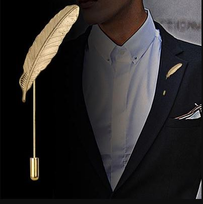 Leaves Lapel Pin Men Women Boutonniere Stick Suit Brooch