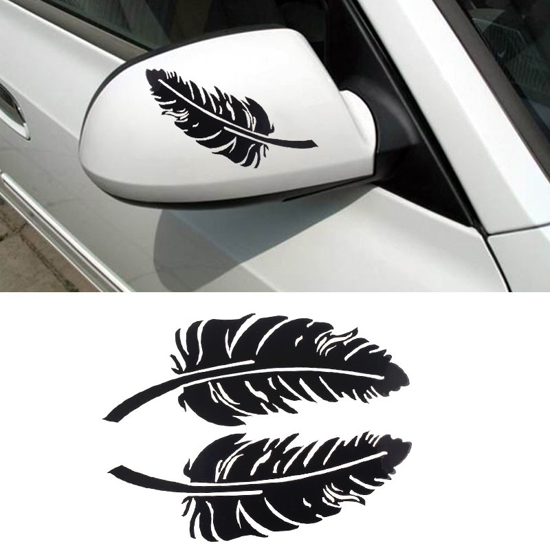 Rear View Mirror Leaf Black
