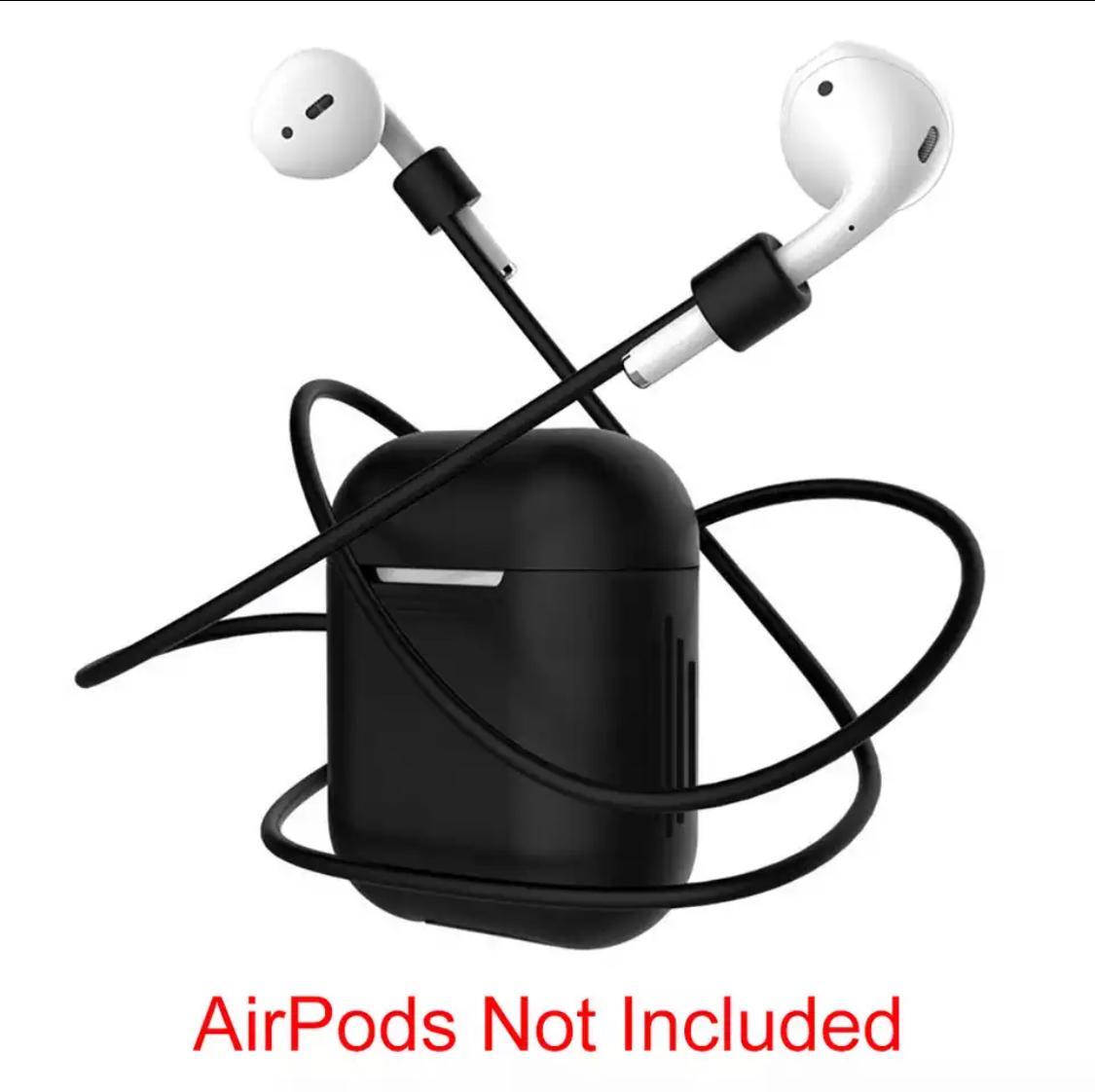 Anti-lost Bluetooth headphone Case Airpods Soft Silicone Black