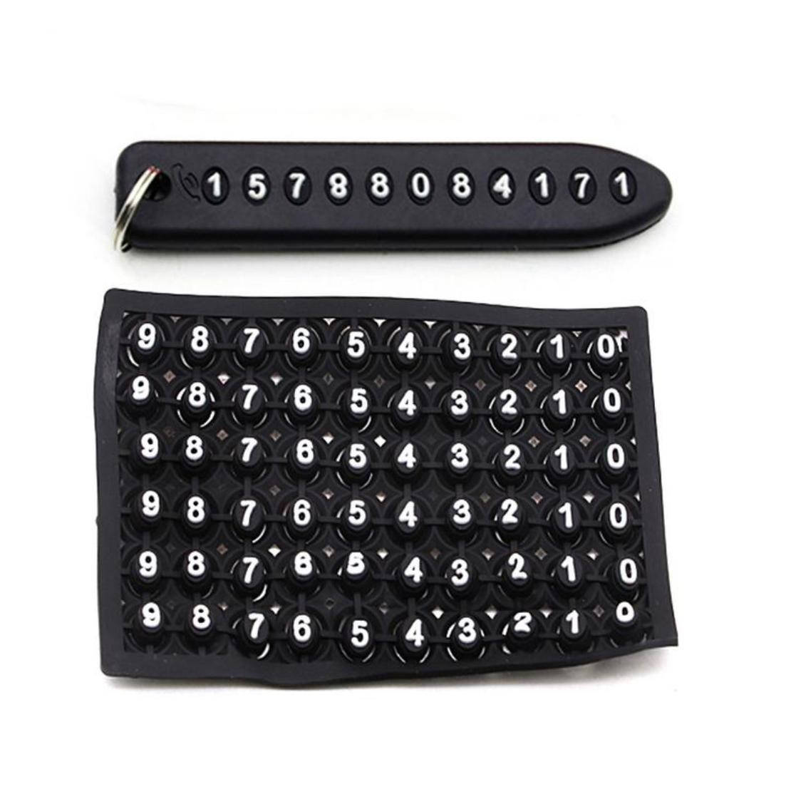 Anti-lost Phone Number Plate Car Keychain Car Interior Decoration