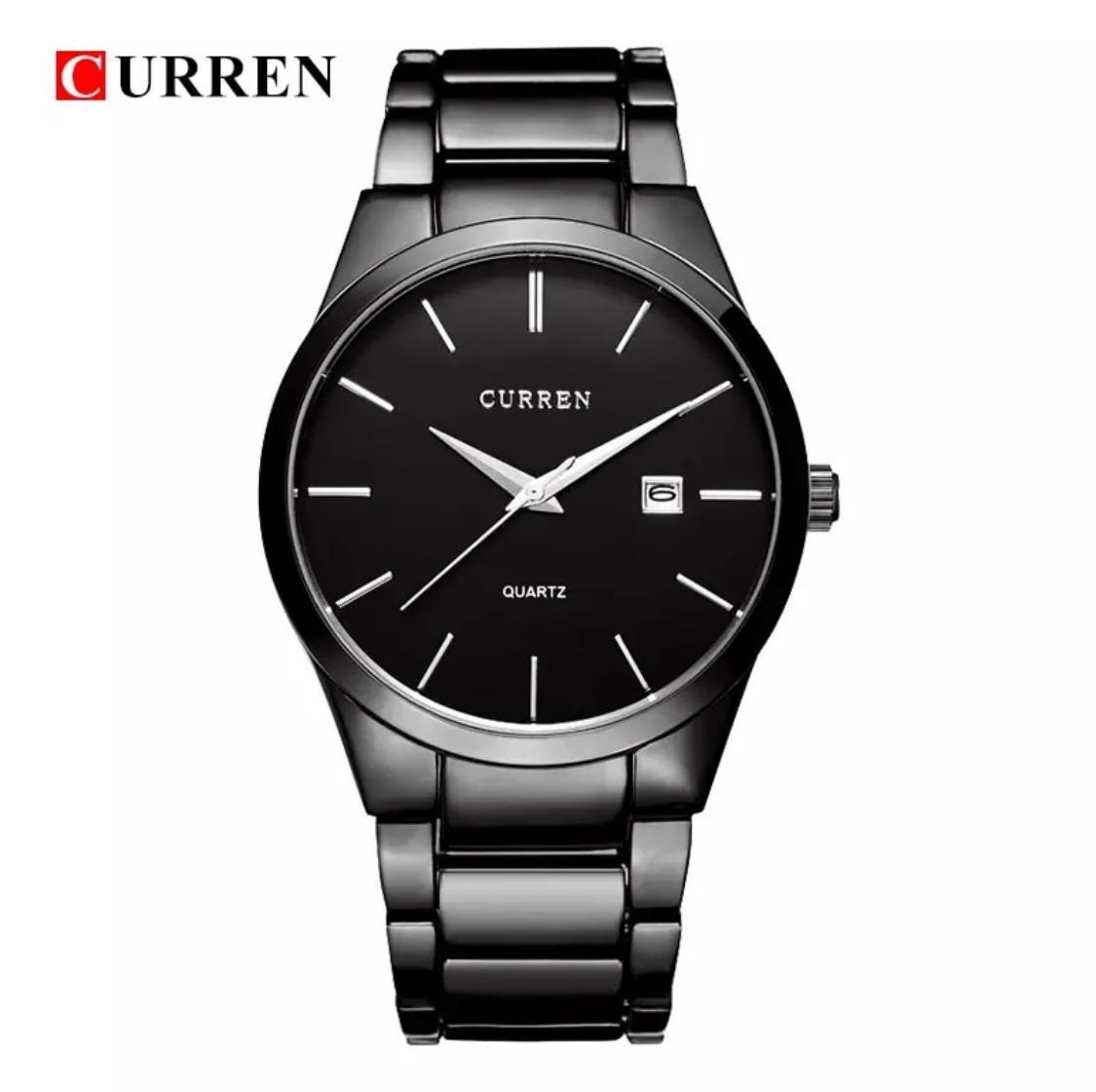 CURREN Luxury Brand Analog Sports Wristwatch Men's Quartz Watch Black