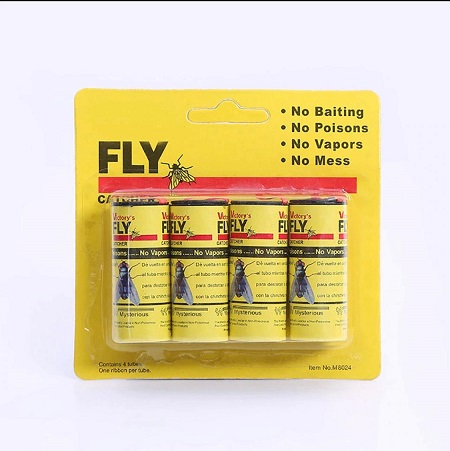 4 Rolls/Pack Sticky Fly Paper Eliminate Flies Insect Bug Glue Paper Catcher