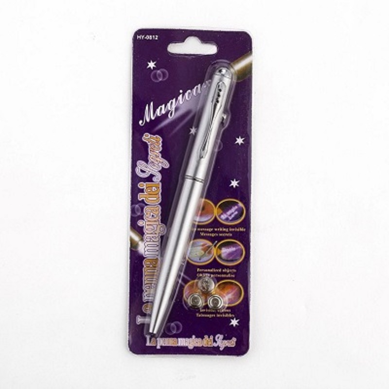 Cute Magic Invisible Ink Ballpoint Pen with LED UV Light Pen For Kids