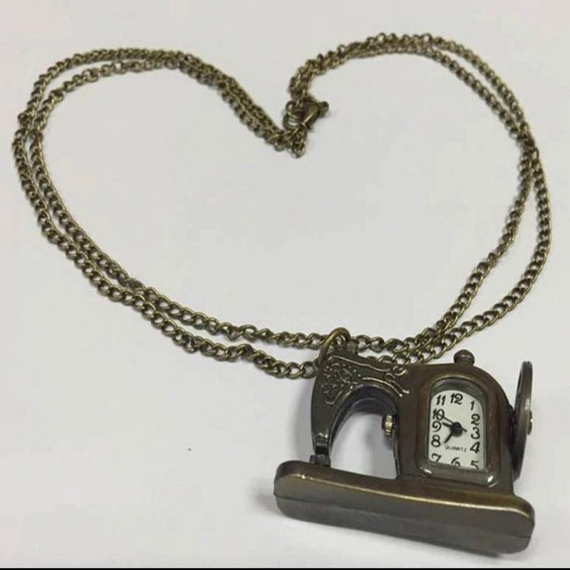 Paradise Hot New Unisex 1PC Sewing Machines design pendant Watch