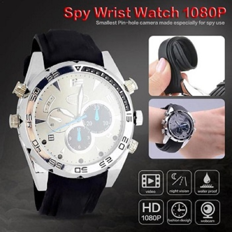 HD Video Waterproof Wrist Watch Camera IR Night Vision