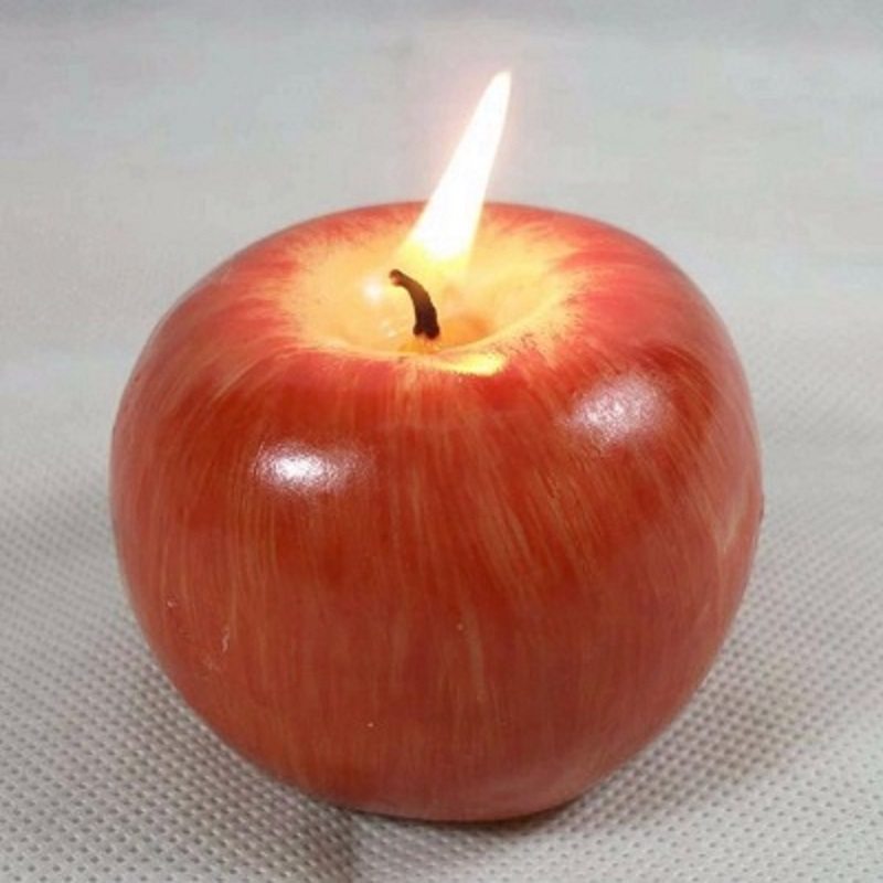 Apple Candle Table Craft Decoration Romantic Decor