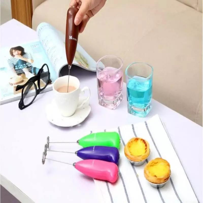 1 pc Electric Handle Coffee Beater Stirrer Milk Frother Foamer Whisk Mixer Milk Treater Juice Muddler Coffee Stirrer