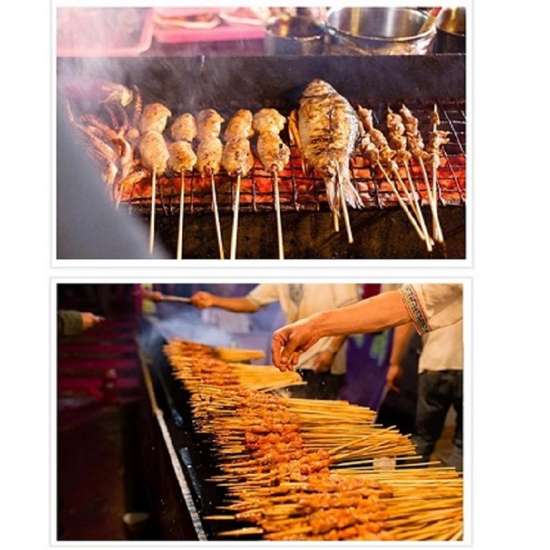 36 PCs Barbecue Grill Mats Bamboo Skewers Grill Shish Wood Sticks Barbecue BBQ Tools
