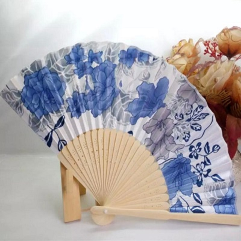 1PC Japanese Cherry Blossom Folding Hand Dancing Wedding Party Decor Fan