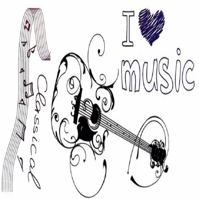 Temporary Tattoo Sticker New Style Guitar and Notes Water Proof Tattoo Body Tattoo