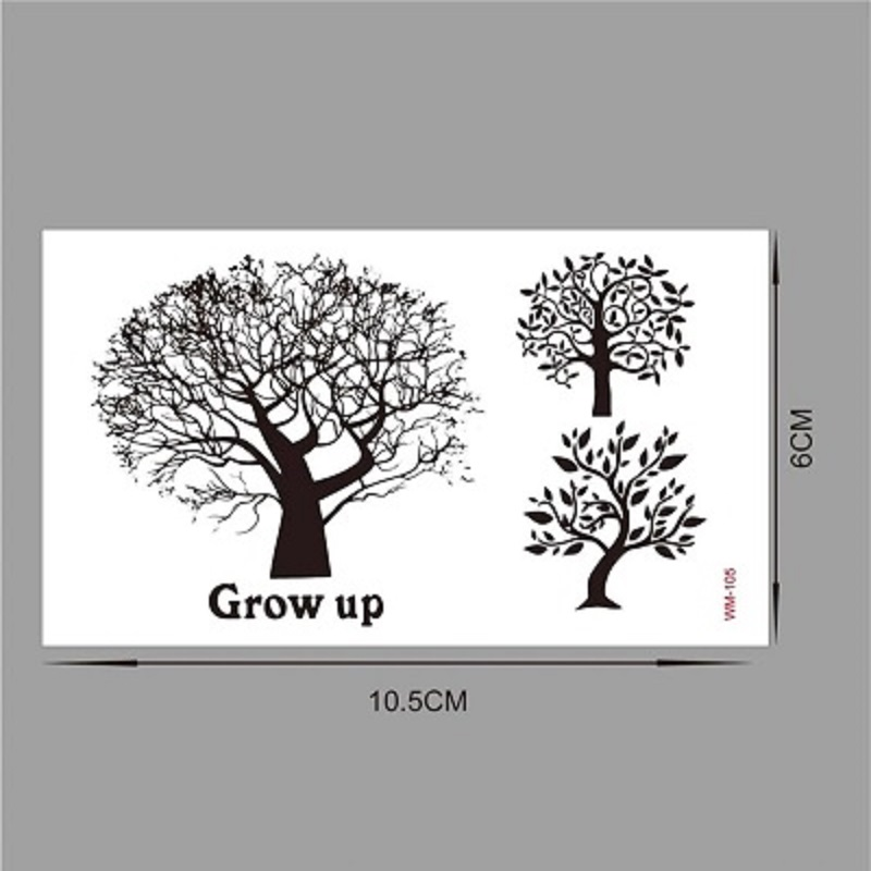 Waterproof Temporary Tattoo Stickers Tree Branch Fake Tattoo