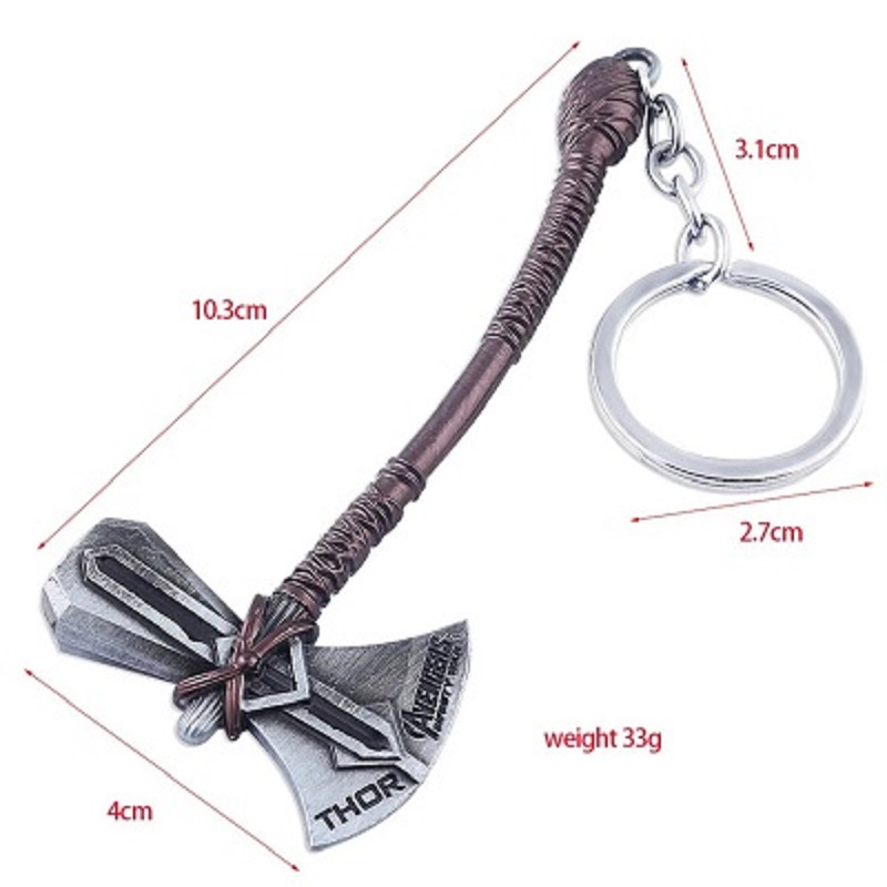 Marvel Thor Axe keychain Avengers Infinity Key Ring Chaveiro Mask