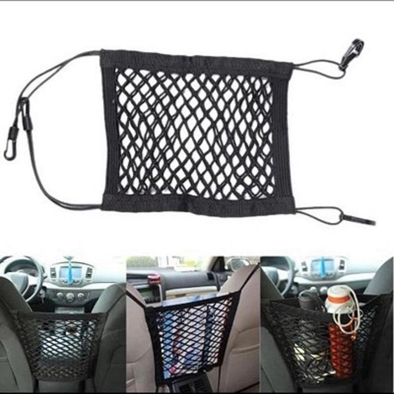 30*25cm Car Organizer Seat Back Storage Elastic Car Mesh Net Bag