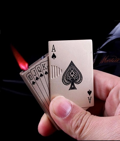 Mini Creative Poker Model Fire Starter Cigarette Lighter