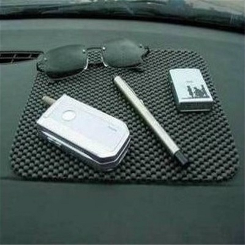Flexible Black Color Car Non Slip Dashboard Mat Key Pads Holder 16.5 X19.7CM