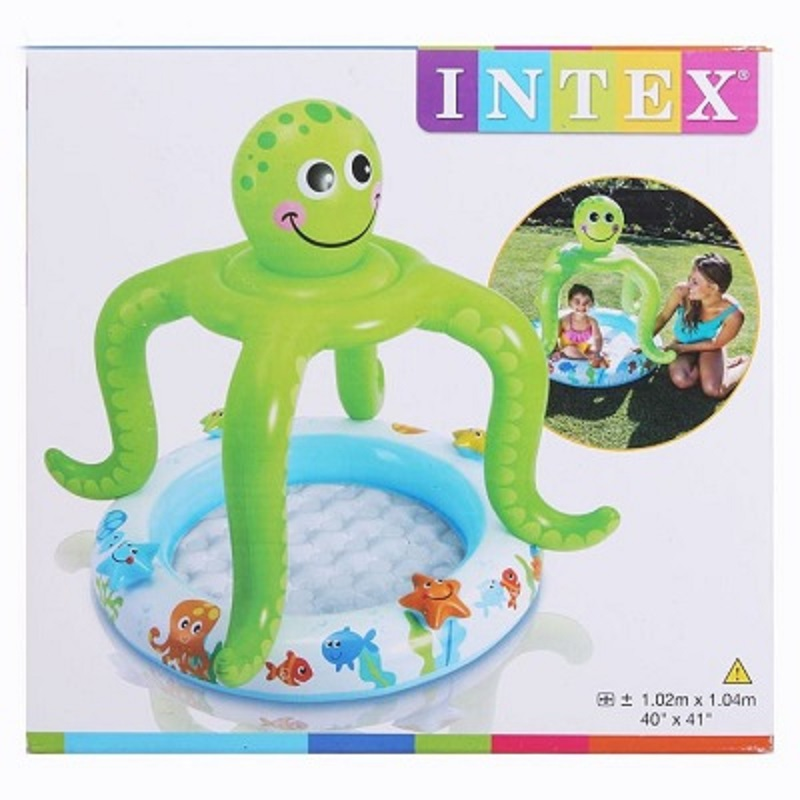 Intex Smiling Octopus Shade Baby Pool (40D x 41H Inch)