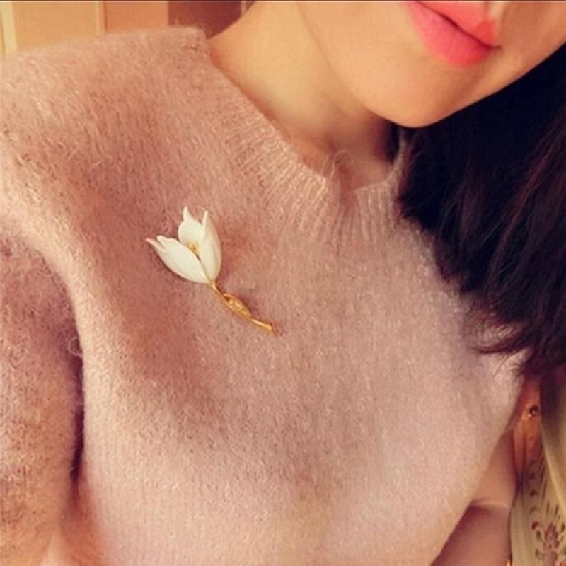 Women's Fashion Jewelry Tulip flower brooch
