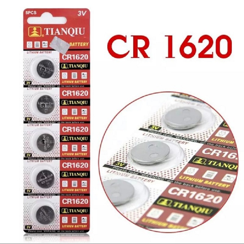 5 Pcs CR1620 3V Lithium Coin Button Battery Cell