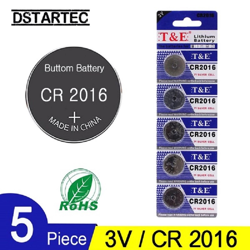 5 Pcs CR2016 3V Lithium Button Cell Battery