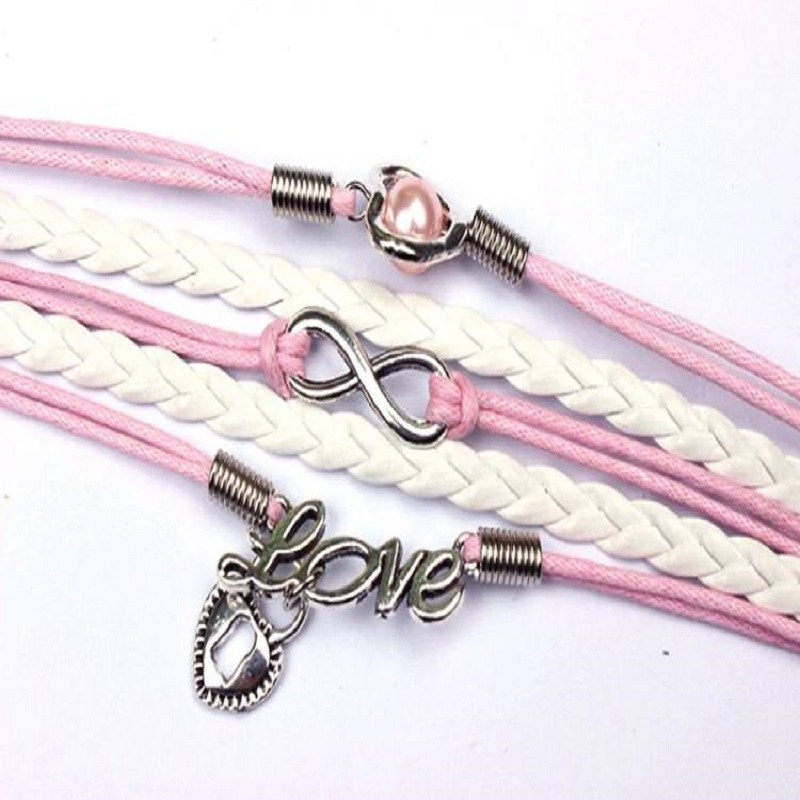 High Nice Leather Love Girls Bracelet