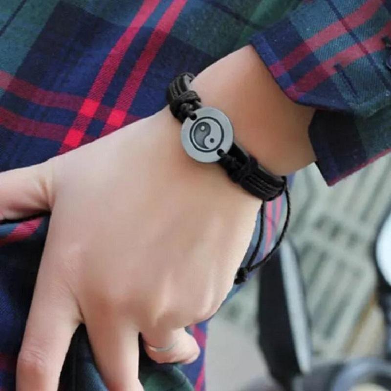 Excessive Fine Elastic Bracelet Tai Chi Ying Yang