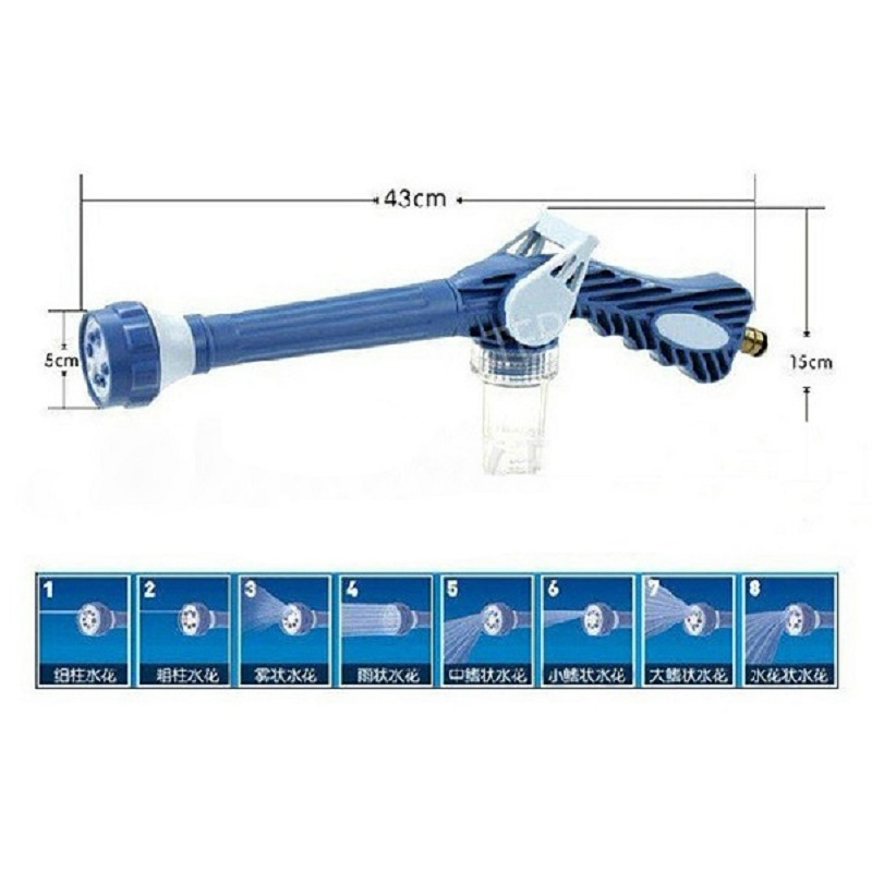 8 Nozzle Ez Jet Water Cleaning Soap Cannon Dispenser Pump Spray Automobile Washer