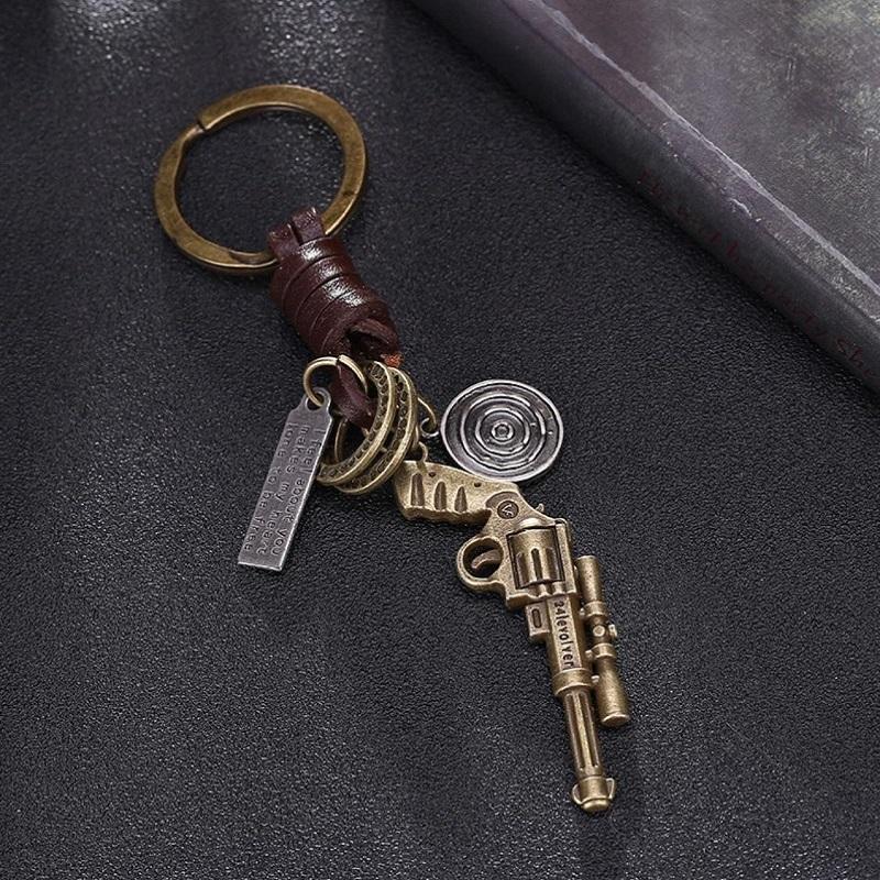 Pendant Leather Pistol Key Chains